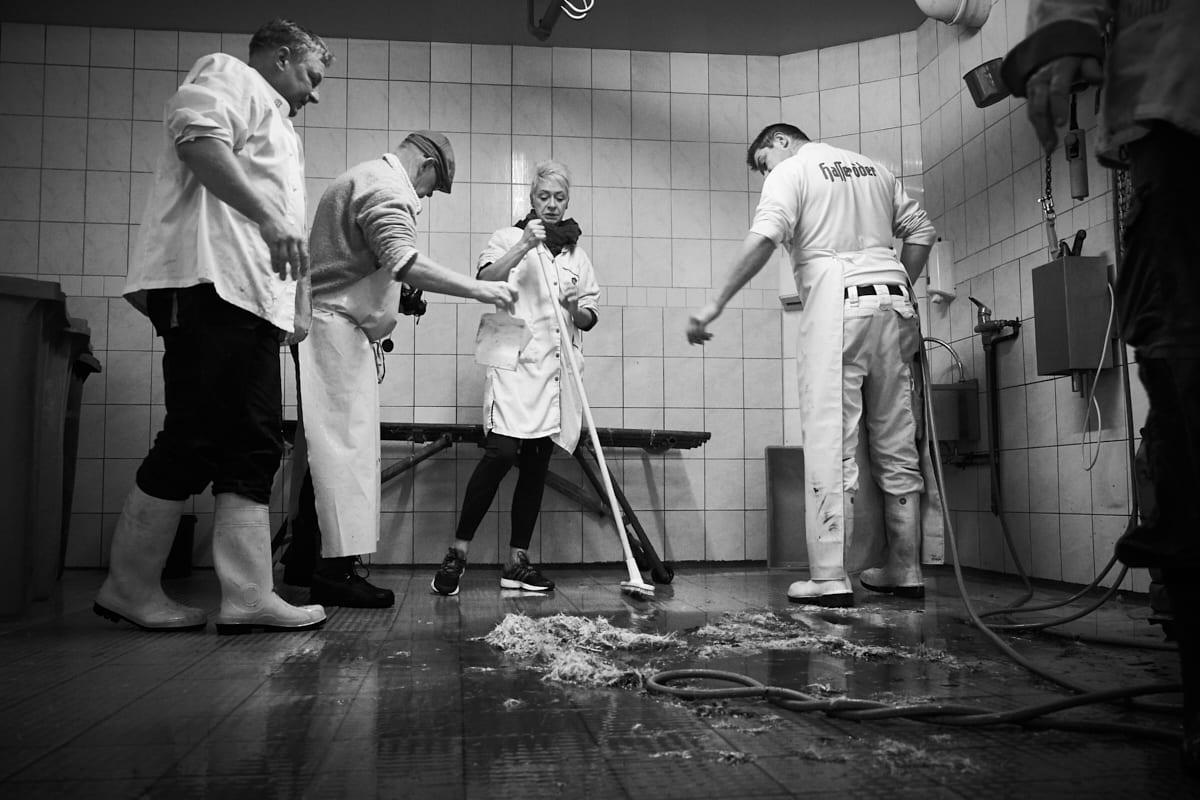Hausschlachtung – Reinigen